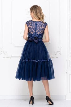 Коктейльное платье с пышной юбкой, фото 2