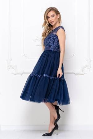 Коктейльное платье с пышной юбкой, фото 3