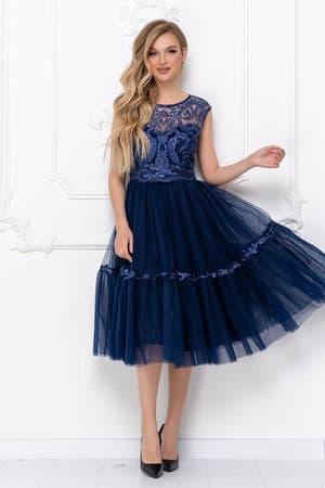 Коктейльное платье с пышной юбкой, фото 4