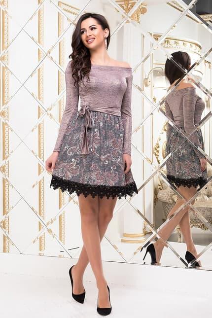 Коктейльное платье 6334e, image 3