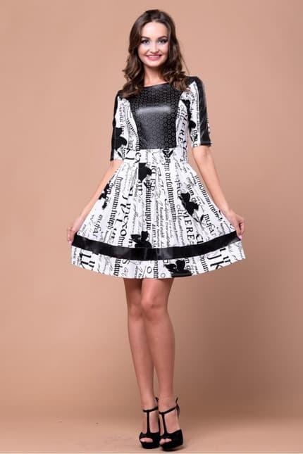 Повседневное платье 5023e, image 4