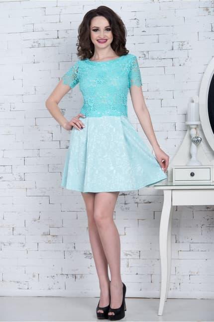 Повседневное платье 7077e, фото 2