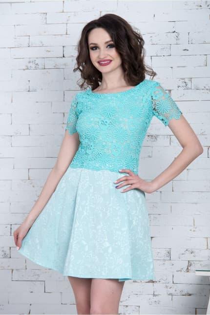 Повседневное платье 7077e, фото 4