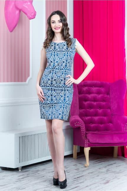 Повседневное платье 6137e, фото 4