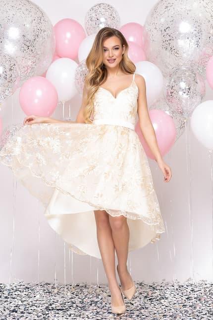 Коктейльное платье с асимметричной юбкой, фото 1