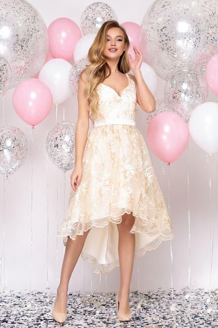 Коктейльное платье с асимметричной юбкой, фото 5