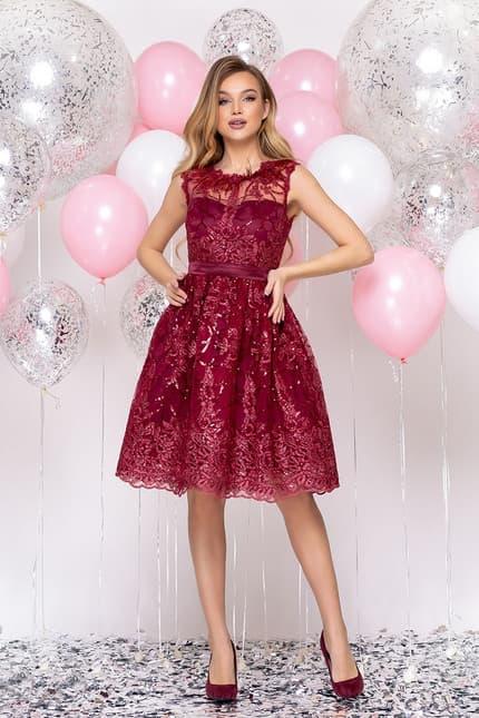 Коктейльное платье с перьями, фото 1