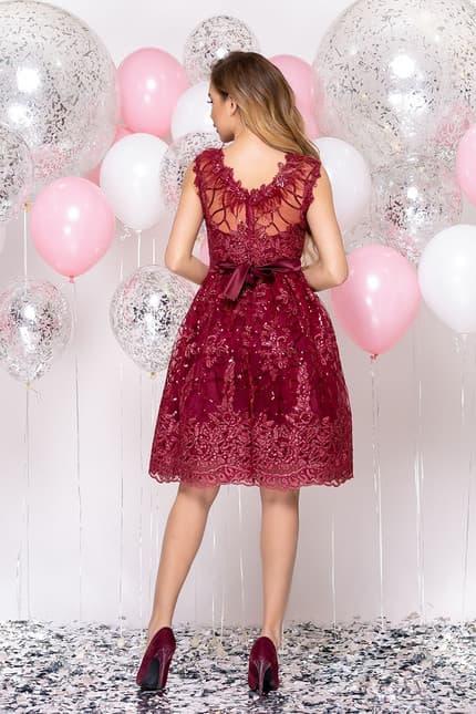 Коктейльное платье с перьями, фото 2