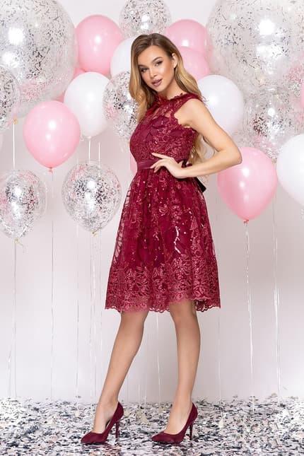 Коктейльное платье с перьями, фото 3