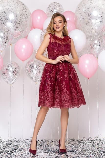 Коктейльное платье с перьями, фото 4