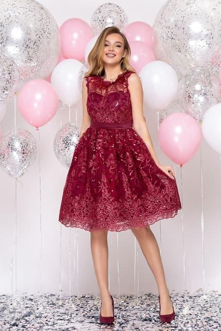 Коктейльное платье с перьями, фото 5