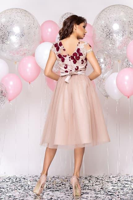 Коктейльное платье с розами, фото 2