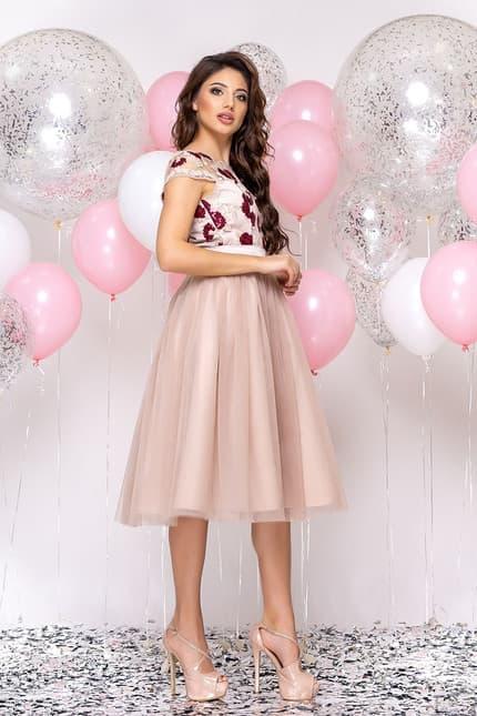 Коктейльное платье с розами, фото 3