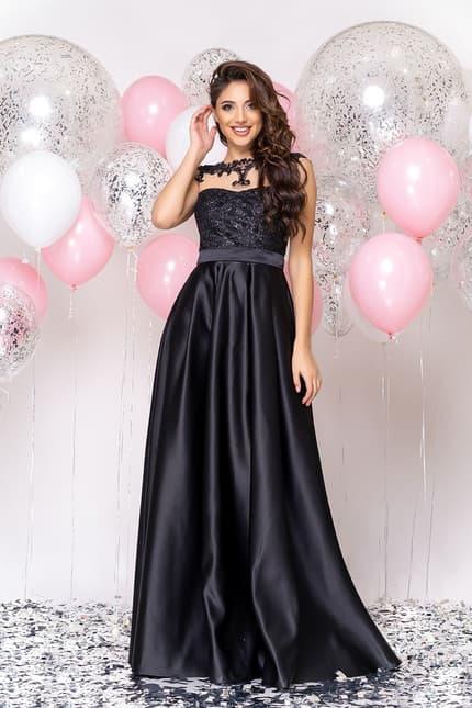Вечернее платье с декорированной спиной, фото 1
