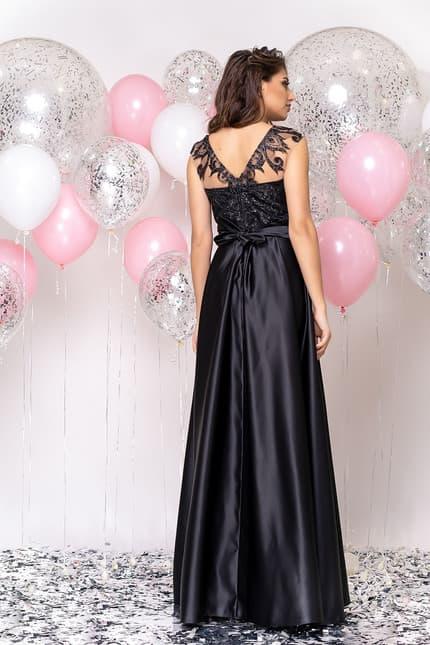 Вечернее платье с декорированной спиной, фото 2