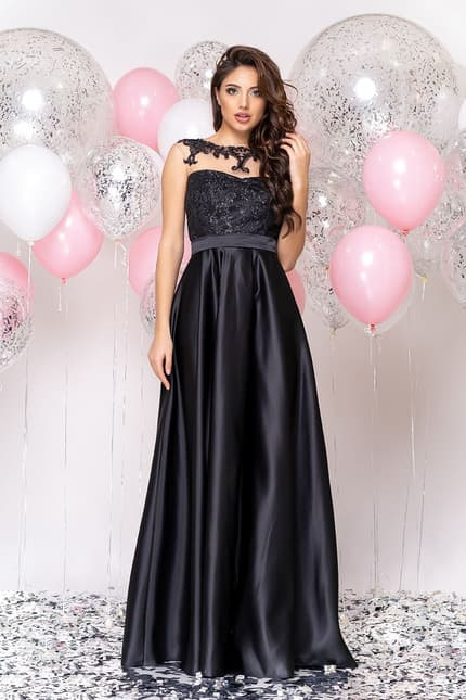 Вечернее платье с декорированной спиной, фото 4