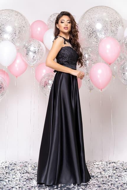 Вечернее платье с декорированной спиной, фото 5