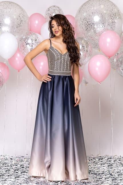 Вечернее платье со стразами на топе, фото 1