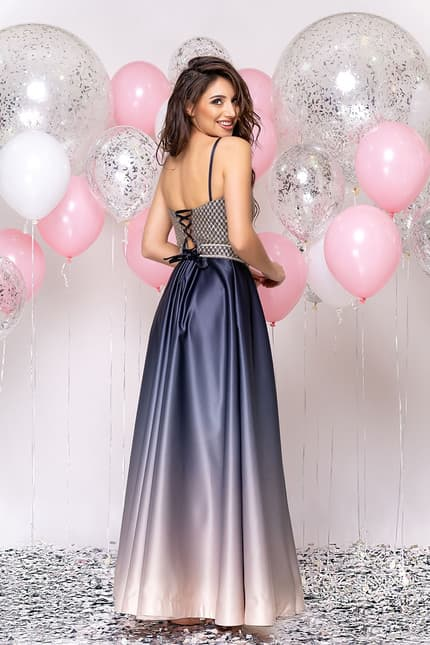 Вечернее платье со стразами на топе, фото 5