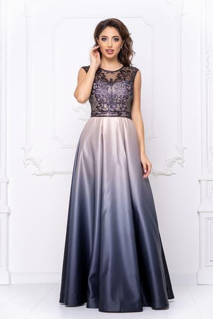 Вечернее платье с градиентом, фото 1