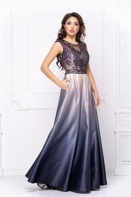 Вечернее платье с градиентом, фото 3