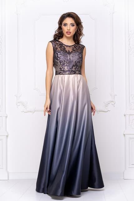 Вечернее платье с градиентом, фото 4