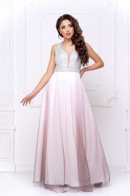 Вечернее платье с фатином, фото 1