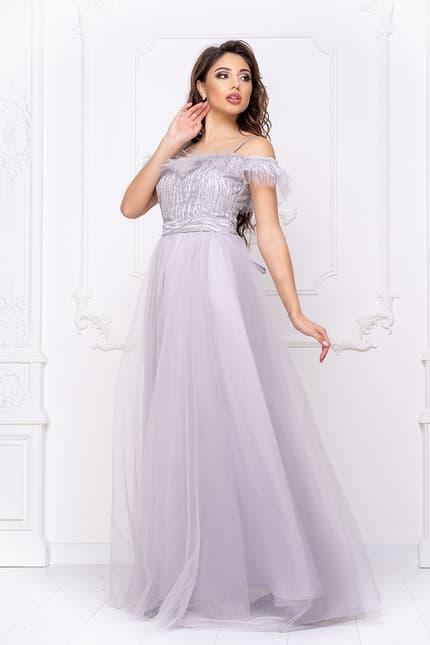 Вечернее платье с открытыми плечами, фото 3