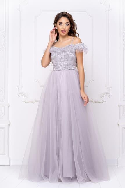 Вечернее платье с открытыми плечами, фото 4
