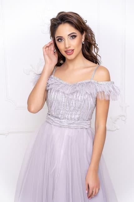 Вечернее платье с открытыми плечами, фото 5