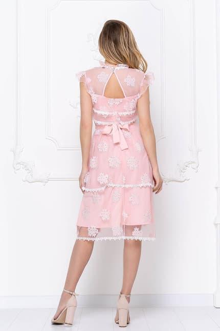 Коктейльное платье с ажурными вставками, фото 2